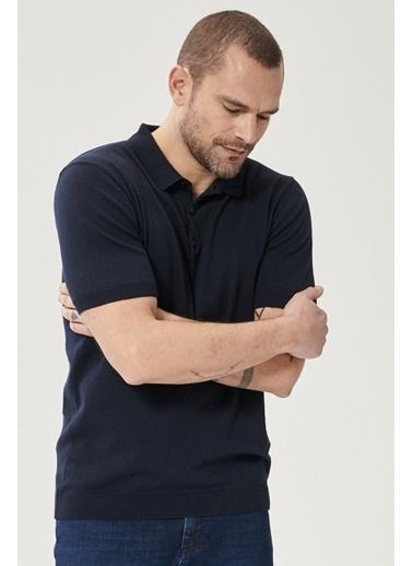 Altınyıldız Classics 360 Derece Her Yöne Esneyen Slim Fit %100 Koton Triko Tişört 4A4921200010 Lacivert